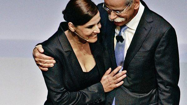 Daimler-Chef Zetsche, Partnerin Nosbusch Genügend Motive, sich zu verabschieden