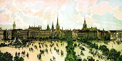Der Augustusplatz vor 100 Jahren