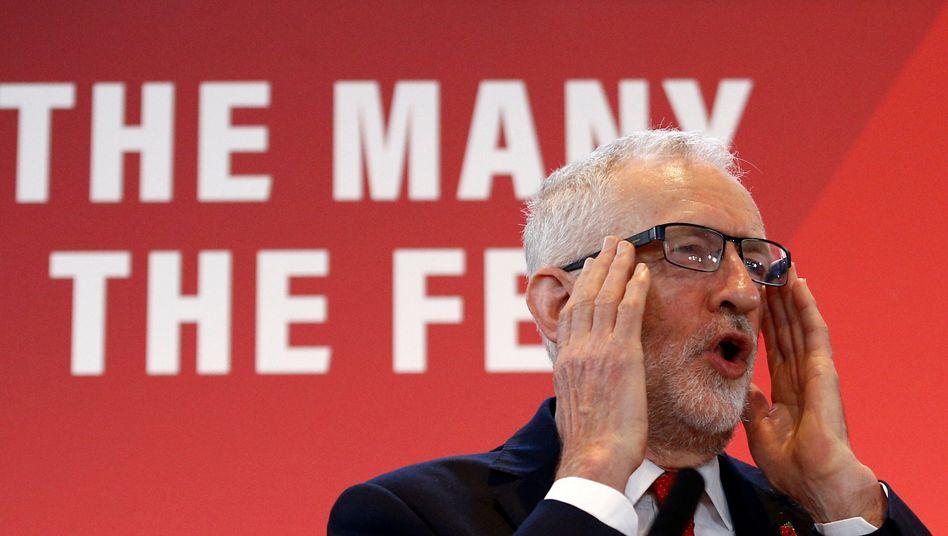 Hört das britische Volk die Signale? Labour-Chef Jeremy Corbyn beim Wahlkampfauftakt in London am 30. Oktober