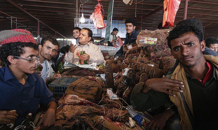 A market in Ataq