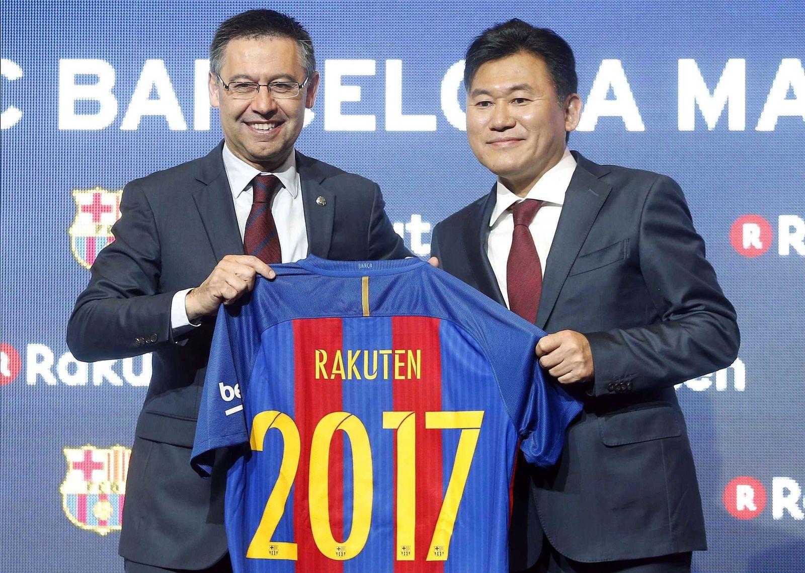 FC Barcelona presents new sponsor