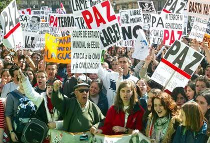 In Spanien hatte es die größten Demonstrationen gegen den Irak-Krieg gegeben