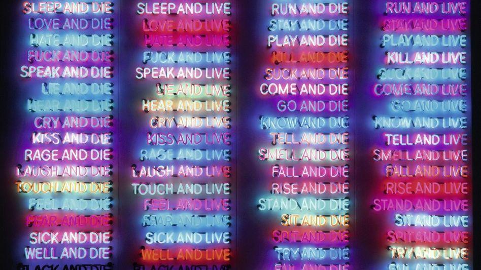 Bruce-Nauman-Installation »One Hundred Live and Die«, 1984: Allein der Tod ist sicher
