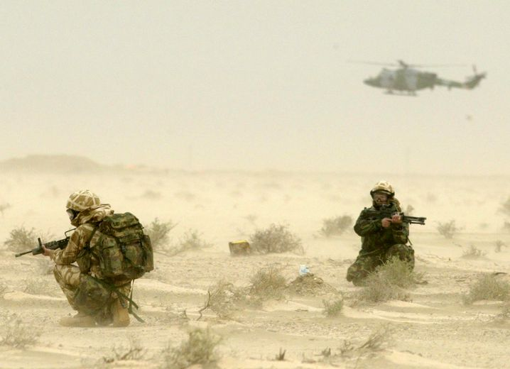 Britische Soldaten im Irak, März 2003
