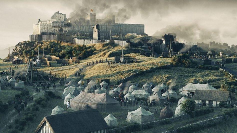 Belagert:1304 verteidigten nur etwa 40 Schotten die Burg Sterling gegen die Armee Englands (Rekonstruktion).
