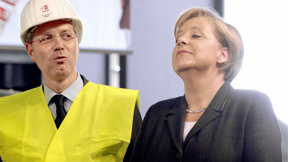 Umweltminister Röttgen, Kanzlerin Merkel: Wie solide ist das Atomgutachten?