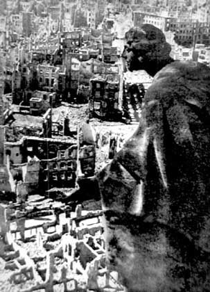 A symbol of destruction: Dresden after the firestorm.