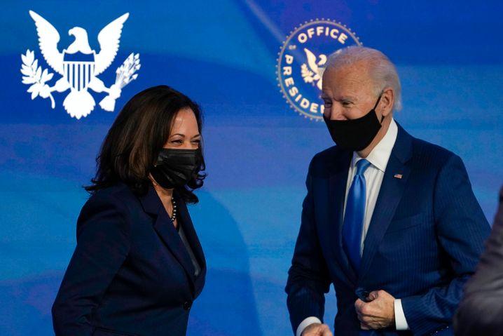Der gewählte US-Präsident Joe Biden und seine Stellvertreterin Kamala Harris