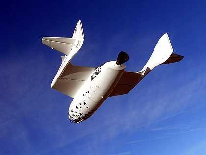 """Space Ship One"": Ausfall der Lagesteuerung"