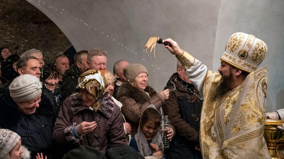 Eisbaden in Russland: Frostschock