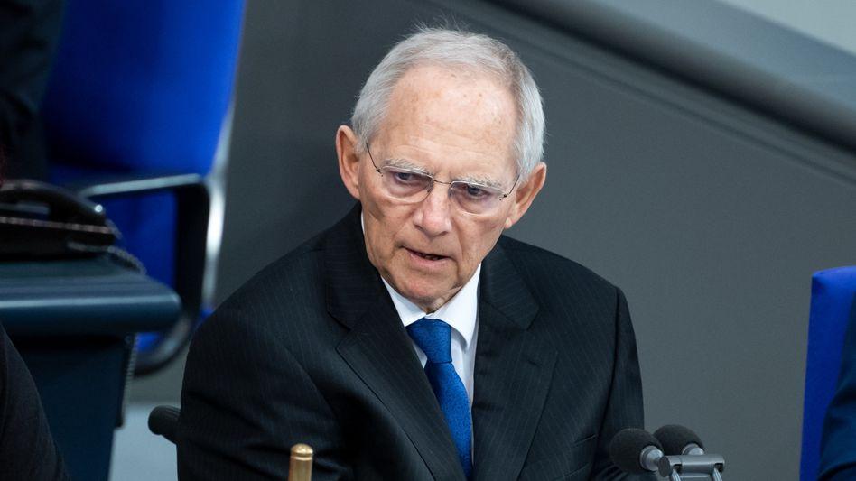 """Bundestagspräsident Wolfgang Schäuble: """"Wir dürfen die Chance nicht wieder verpassen"""""""