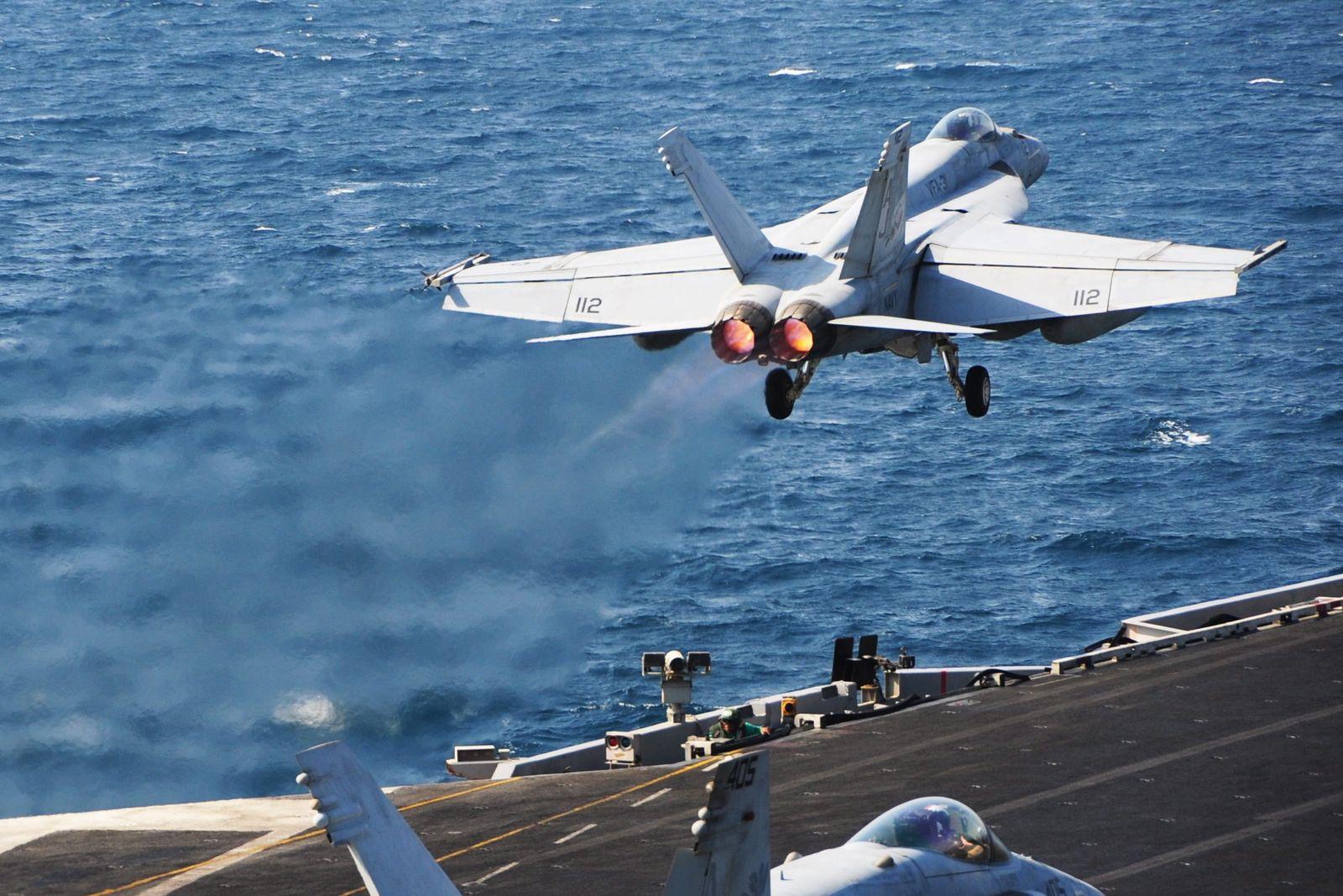 USS George HW Bush flight operations in the Arabian Gulf