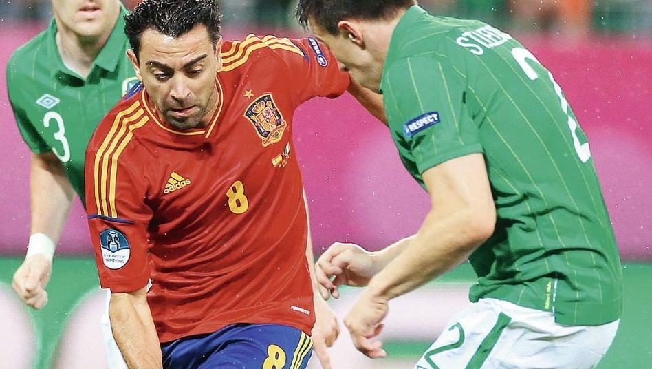 Spanischer Nationalspieler Xavi (M.): »Schnellster im Kopf«