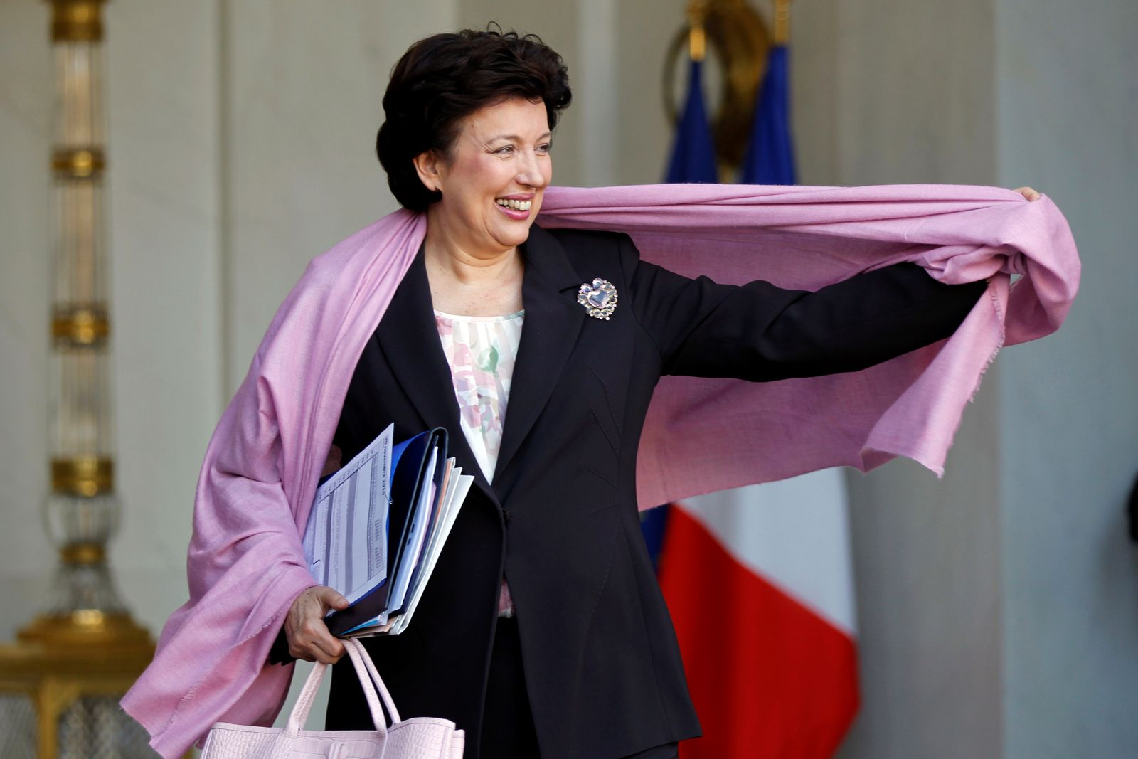 FILE PHOTO: Solidarity and Social Affairs Minister Roselyne Bachelot-Narquin leaves the Elysee Palace in Paris
