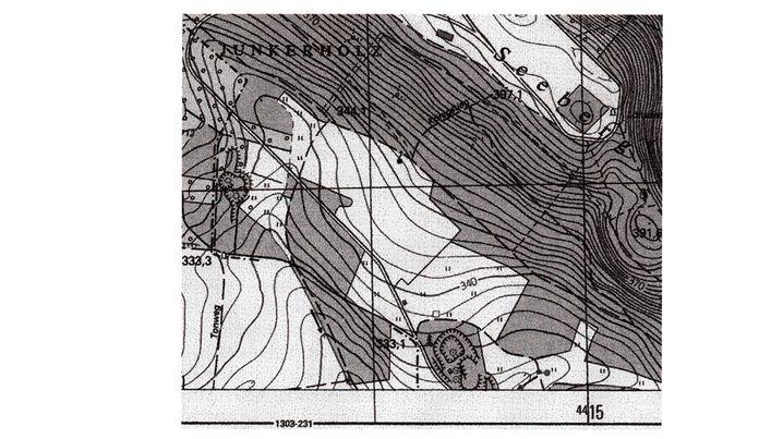 Veröffentlichte DDR-Landkarte: Der zur Tilgung bestimmte Ort fehlt.