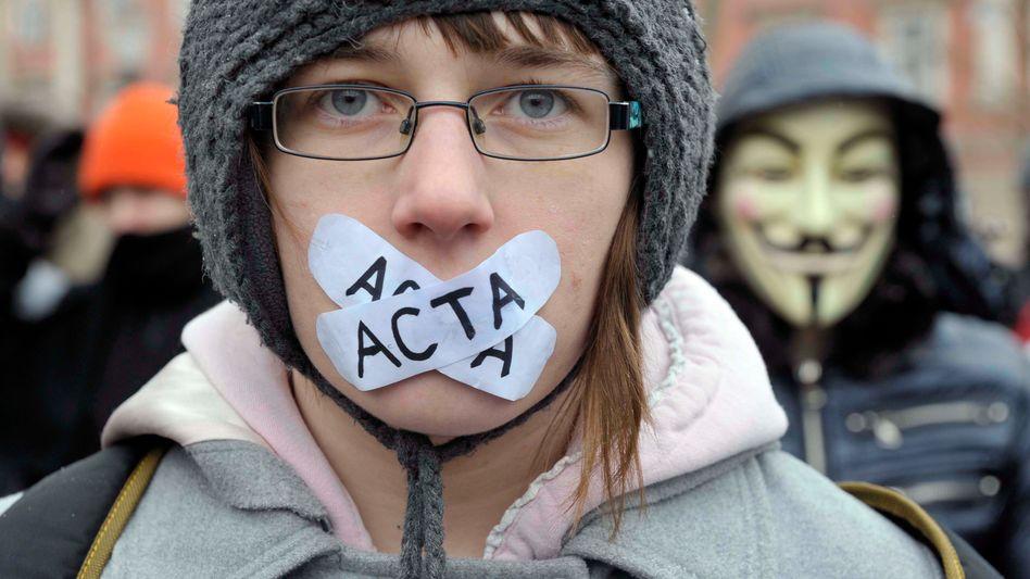 Protest gegen Acta (am 4. Februar in Slowenien): Deutschland wartet auf die EU