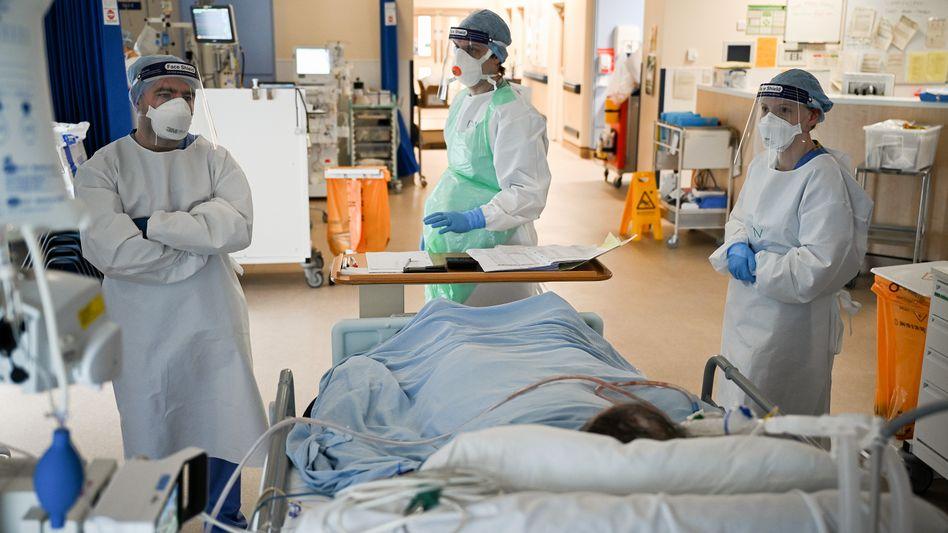 Personal in einem schottischen Krankenhaus
