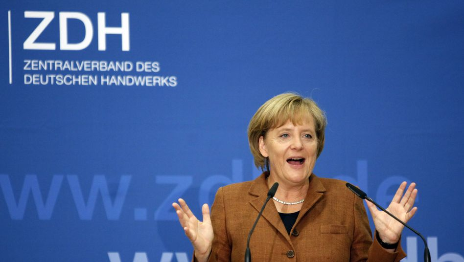 """Bundeskanzlerin Merkel: """"Talsohle erreicht"""""""