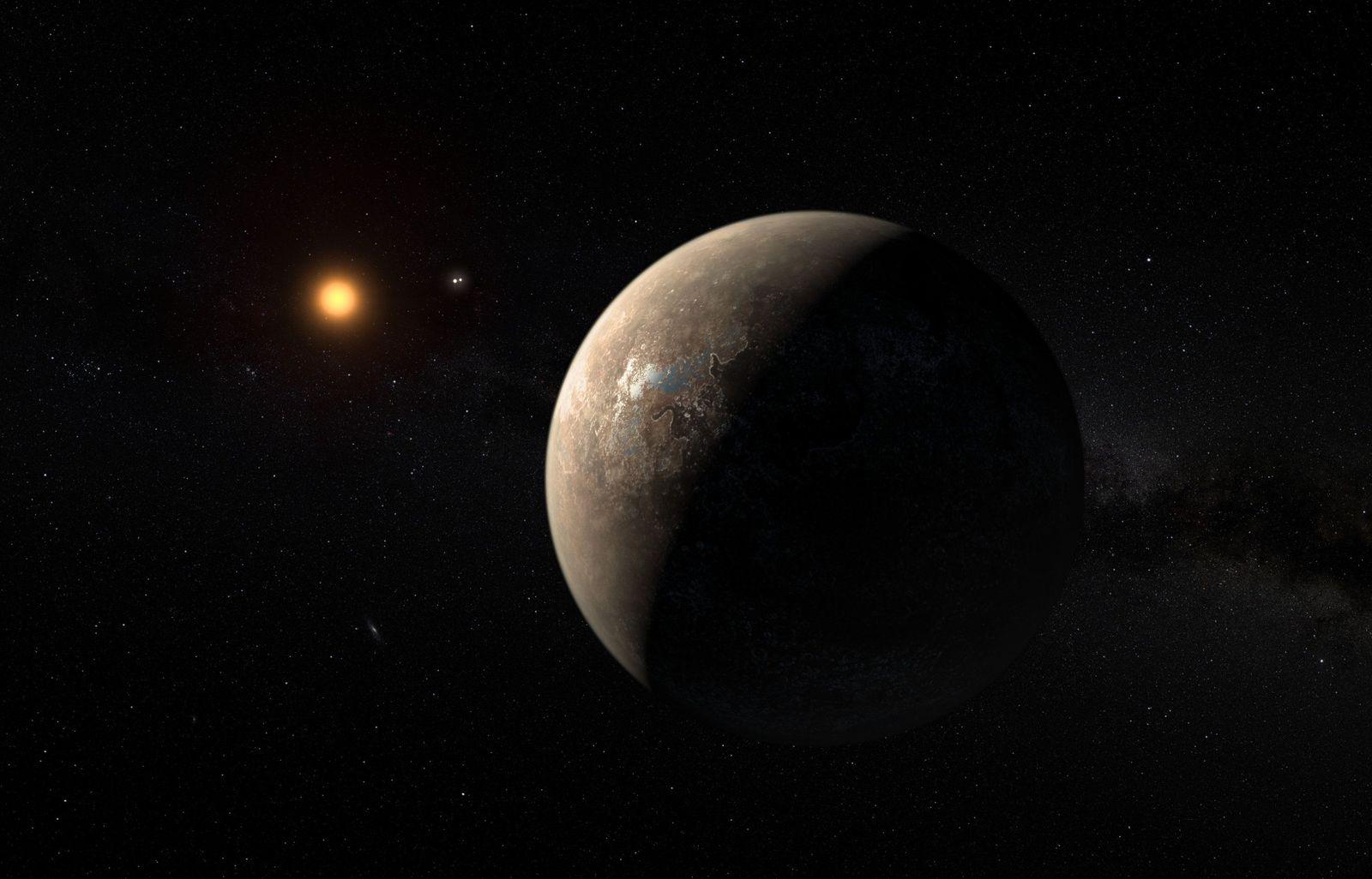 EINMALIGE VERWENDUNG SPERRFRIST, 24. AUGUST 19.00 UHR Alpha Centauri/ Proxima Centauri