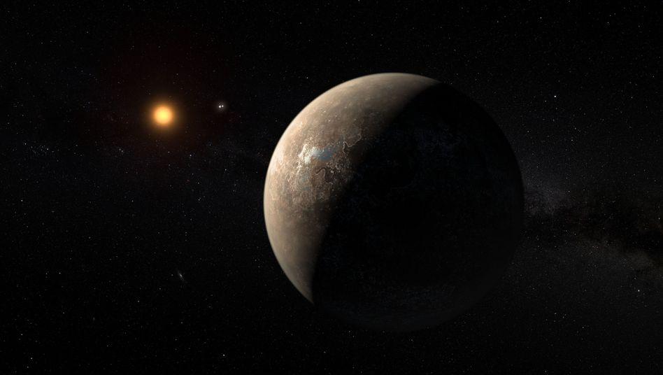 Planet Proxima Centauri b (künstlerische Darstellung)