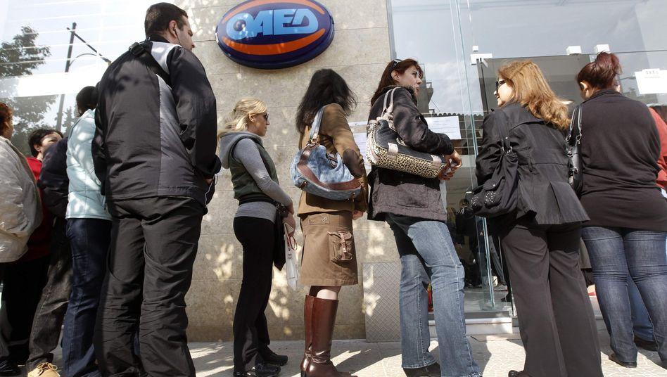 Job-Krise in Griechenland: Vor allem junge Menschen sind von ihr betroffen