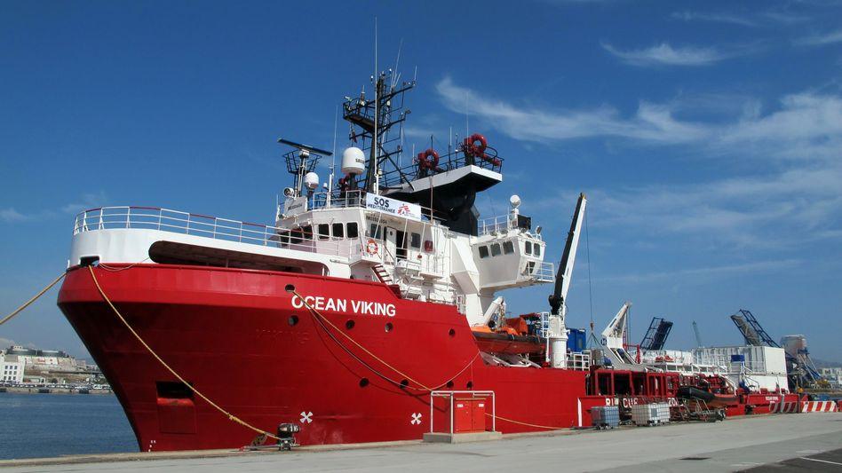 """Rettungschiff """"Ocean Viking"""": Das norwegische Schiff soll im Auftrag der französischen Hilfsorganisation SOS Méditerranée Flüchtlinge vor der libyschen Küste suchen"""