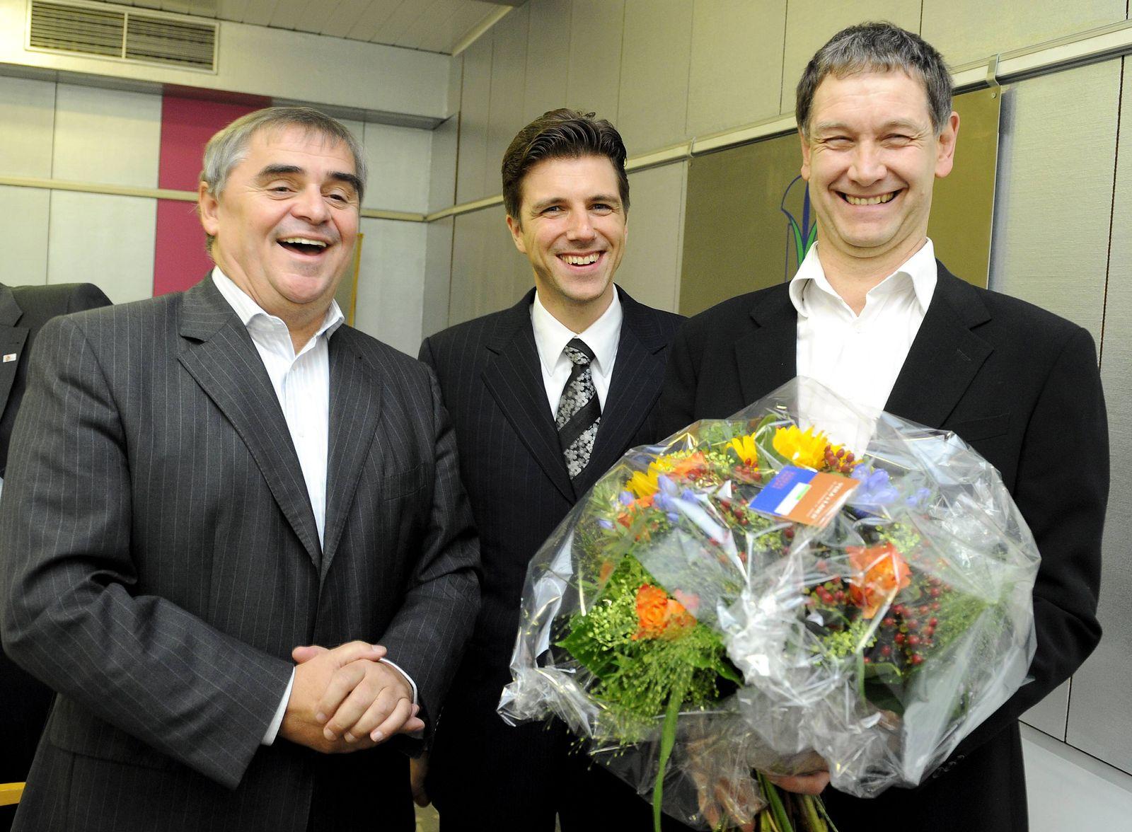 NICHT VERWENDEN Peter Mueller, Christoph Hartmann, Hubert Ulrich, Saarland, Koalition