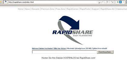 Rapidshare.com: Hochladen, speichern und veröffentlichen