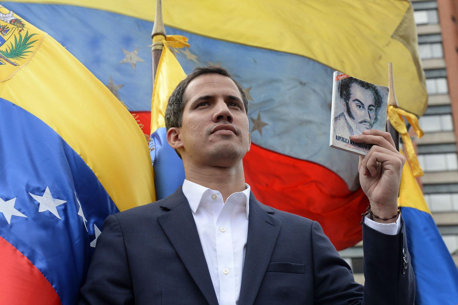 EINMALIGE VERWENDUNG TOPSHOT-VENEZUELA-CRISIS-OPPOSITION-DEMO-GUAIDO