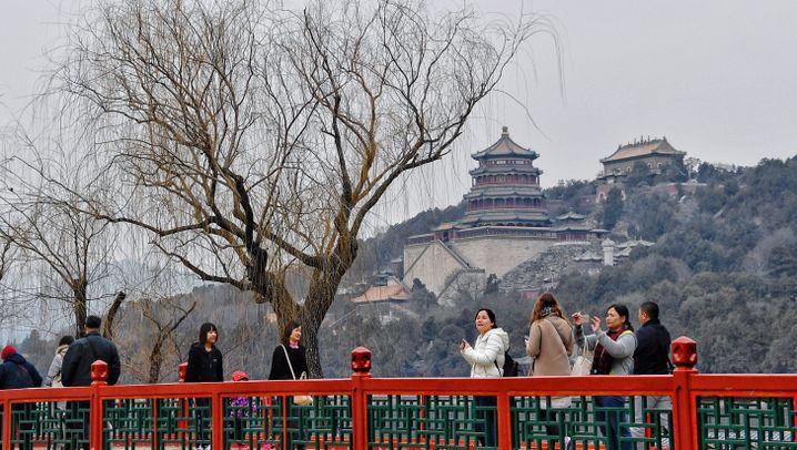 Kaum Smog in Peking: Klare Sicht