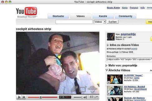 Stewardess und Pilot auf YouTube: Airlines rätseln über den Arbeitgeber der Crew