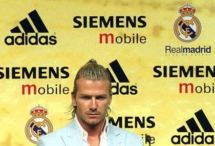Real-Neuzugang Beckham: Hauptsache, das Logo ist gut zu sehen