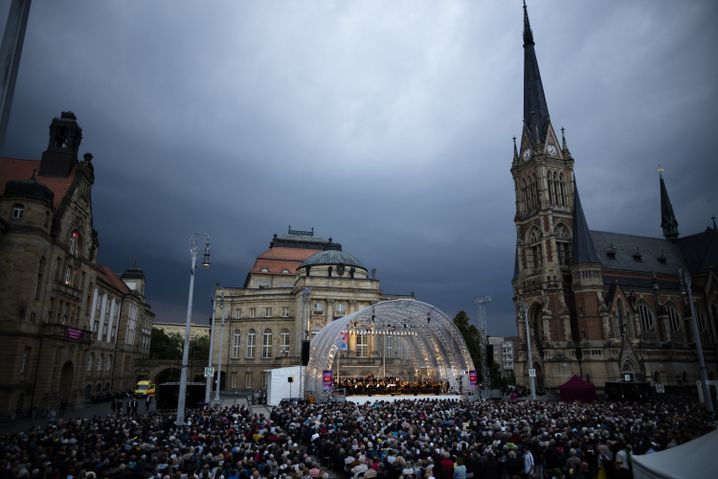 Open-Air-Konzert der Kulturbetriebe von Chemnitz