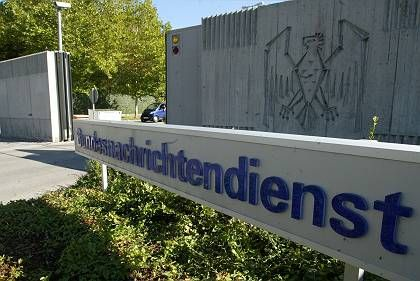 "The main entrance of Germany""s intelligence agency Bundesnachrichtendienst (BND) headquarters is seen in Pullach, south of Munich."