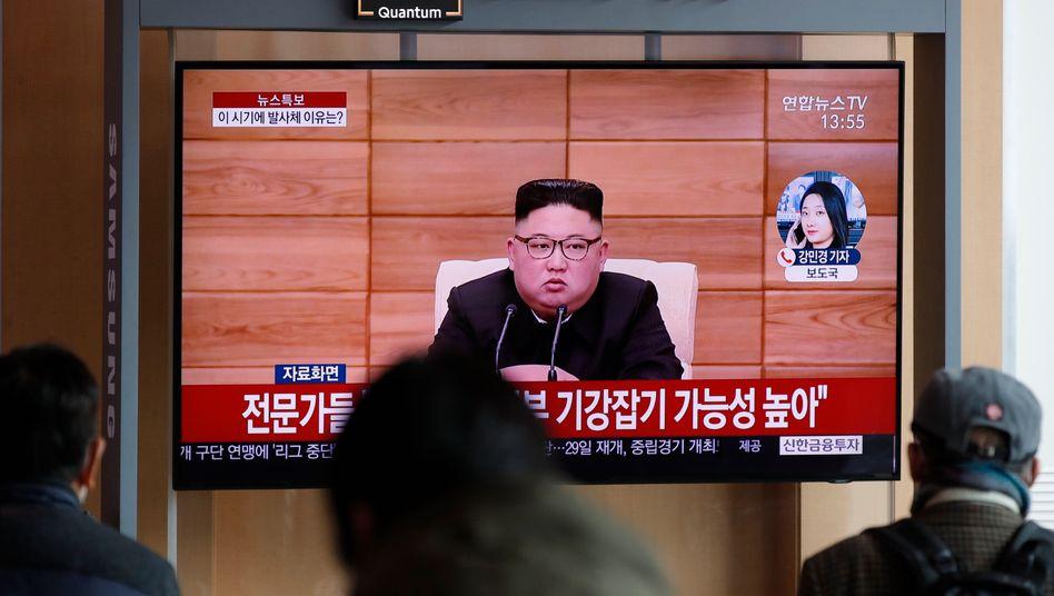 Südkoreanisches Fernsehen berichtet über Nordkoreas erneute Waffentests