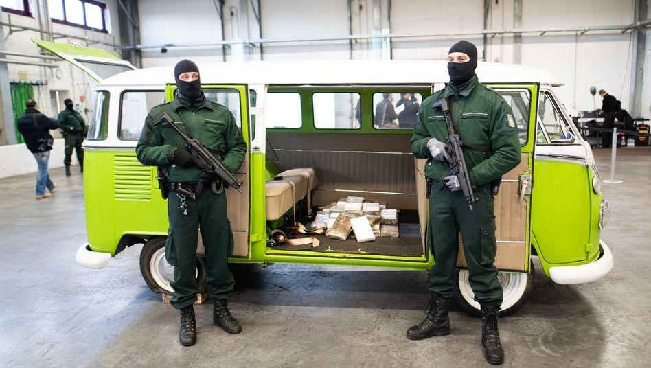 VW-Bus mit sichergestelltem Kokain
