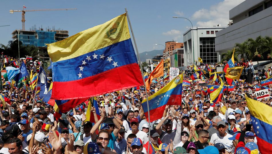 Maduro-Gegner in Caracas