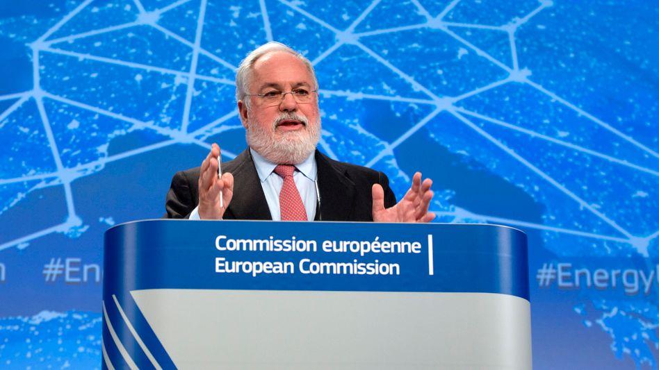 EU-Energiekommissar Canete: Sparmöglichkeit 40 Milliarden Euro jährlich
