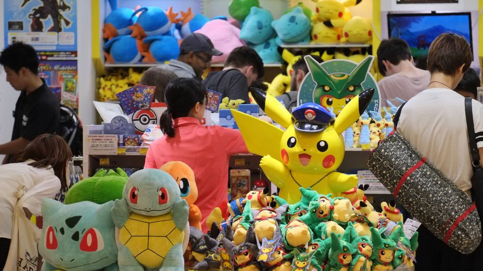 Pikachu und anderes Spielzeug