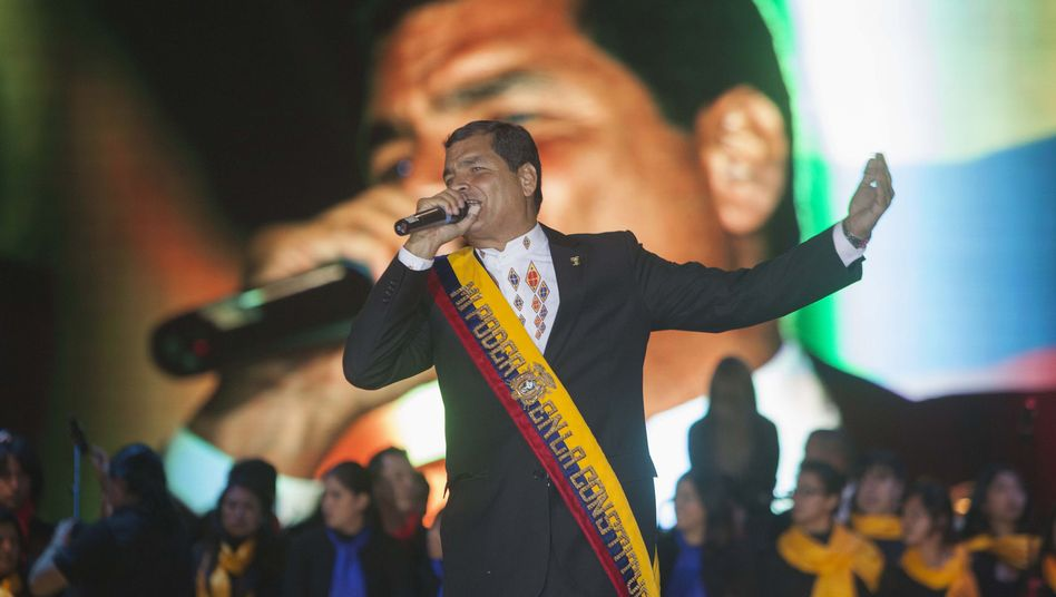 Ecuadors Präsident Correa: Gehörige Portion Doppelmoral