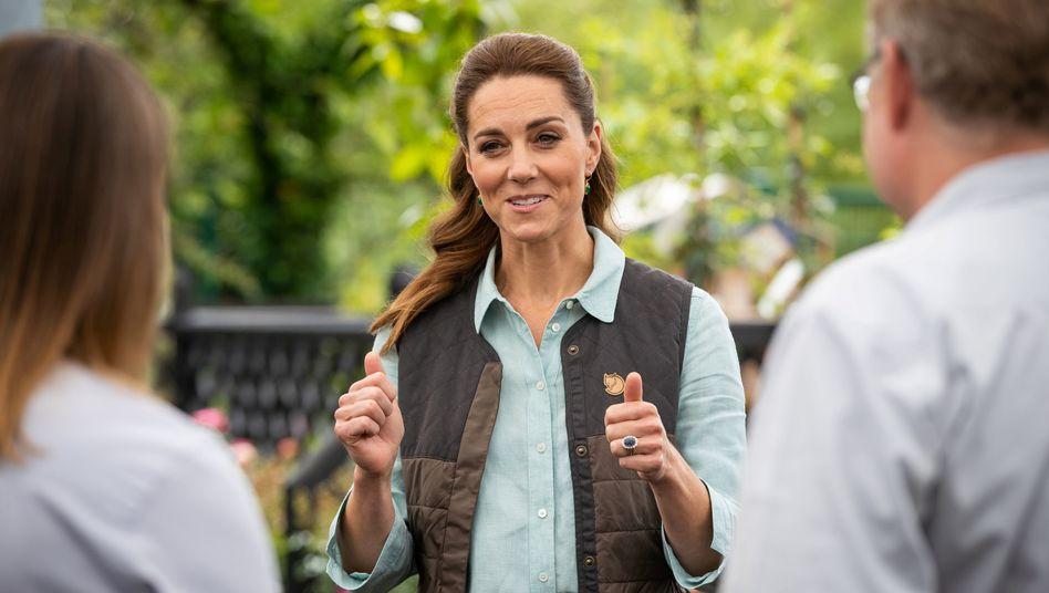 Prominente Besucherin: Herzogin Catherine im Gartencenter