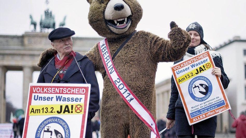 Gegner von Wasserprivatisierung in Berlin Der Unmut ist groß