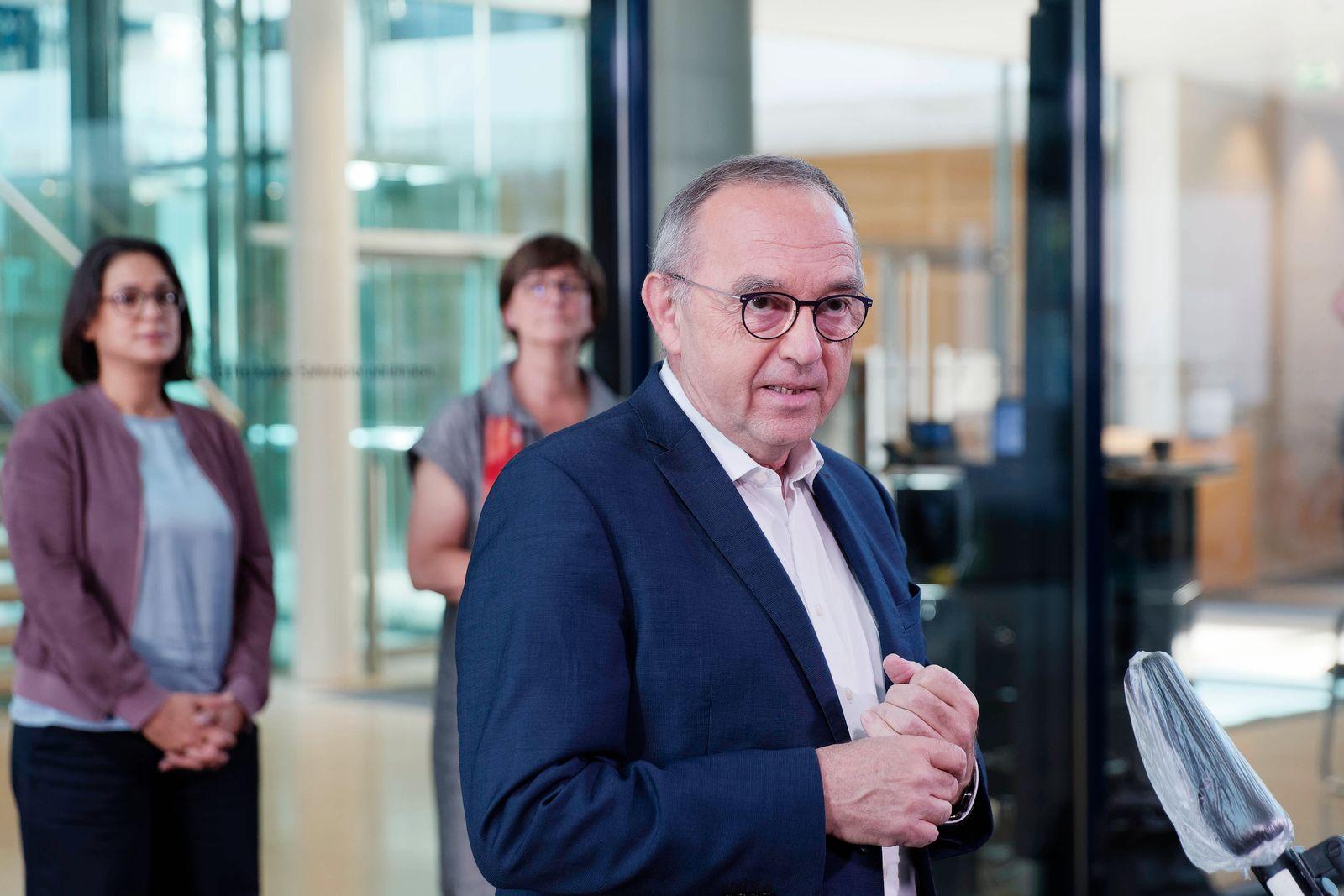 Norbert Walter-Borjans 2020-09-14, Berlin, Deutschland - Statements von SPD-Spitze und Kanzlerkandidat nach der Präsidie