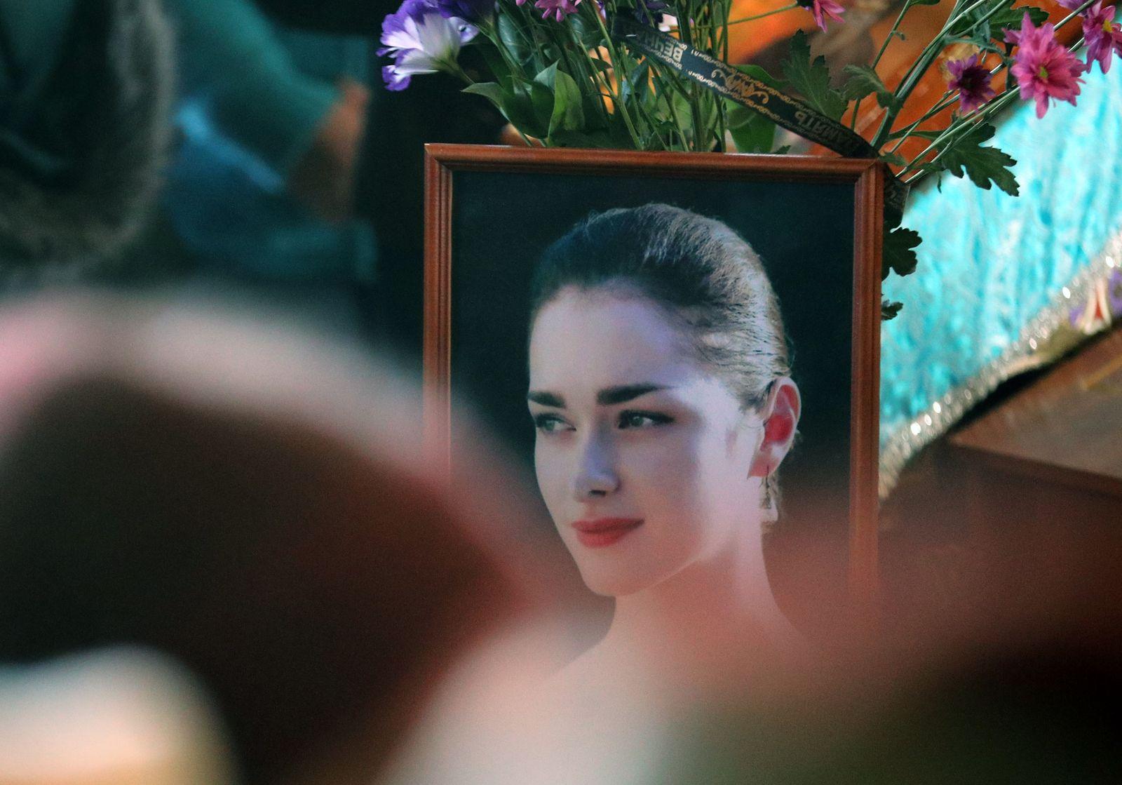 Farewell ceremony for 24-year-old student Anastasia Yeshchenko mu