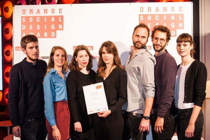 Gewinner des Jurypreises v.l.n.r.: Malte Heinze, Salome Wackernagel, Sara Lusic-Alavania, Zara Pfeifer, Stefan Liczkowski, Paul Künzel, Johanna Streicher