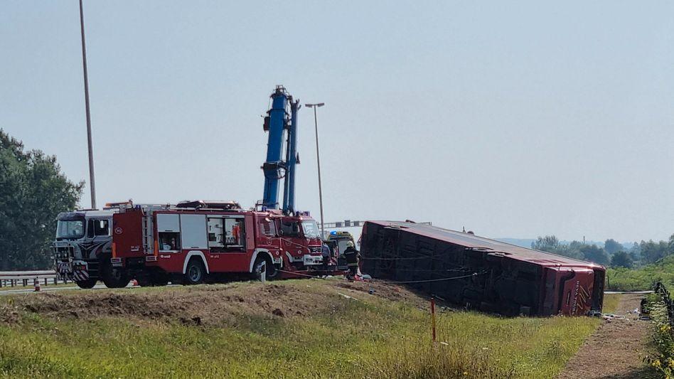 Eine Aufnahme der Unfallstelle in Kroatien