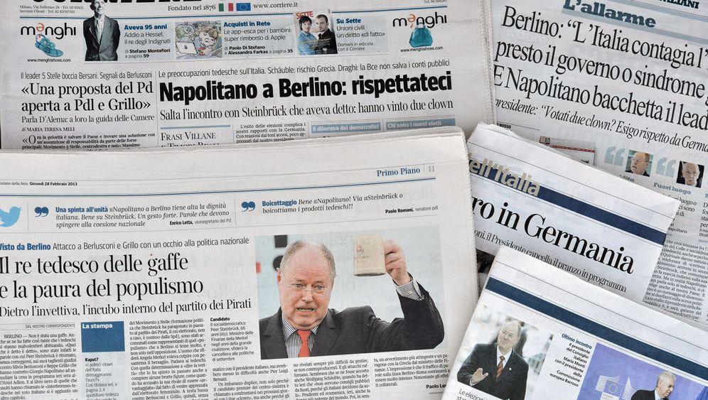 Deutsch-italienisches Verhältnis: Gegenseitige Schimpftiraden