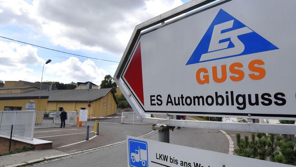 Werksgelände des Teilezulieferers ES Automobilguss in Schönheide