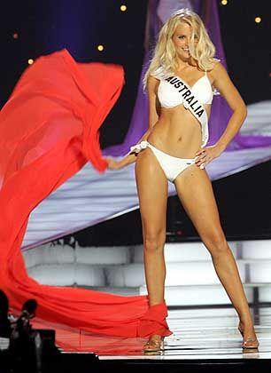 Temperamentvolle Nachfolgerin der letztjährigen Gewinnerin: Miss Australia Michelle Guy