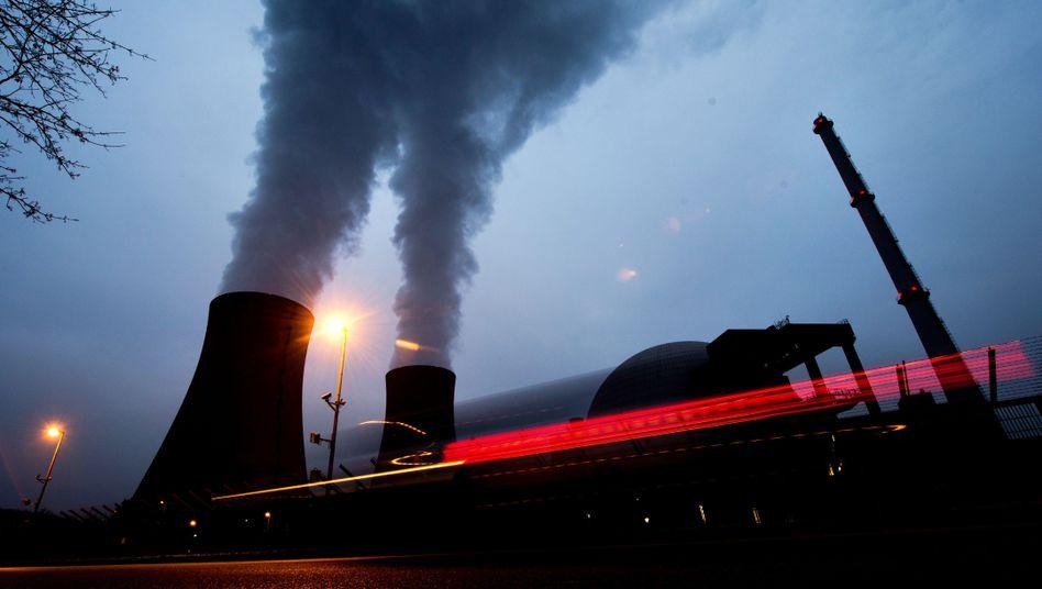 Atomkraftwerk Grohnde in der Gemeinde Emmerthal